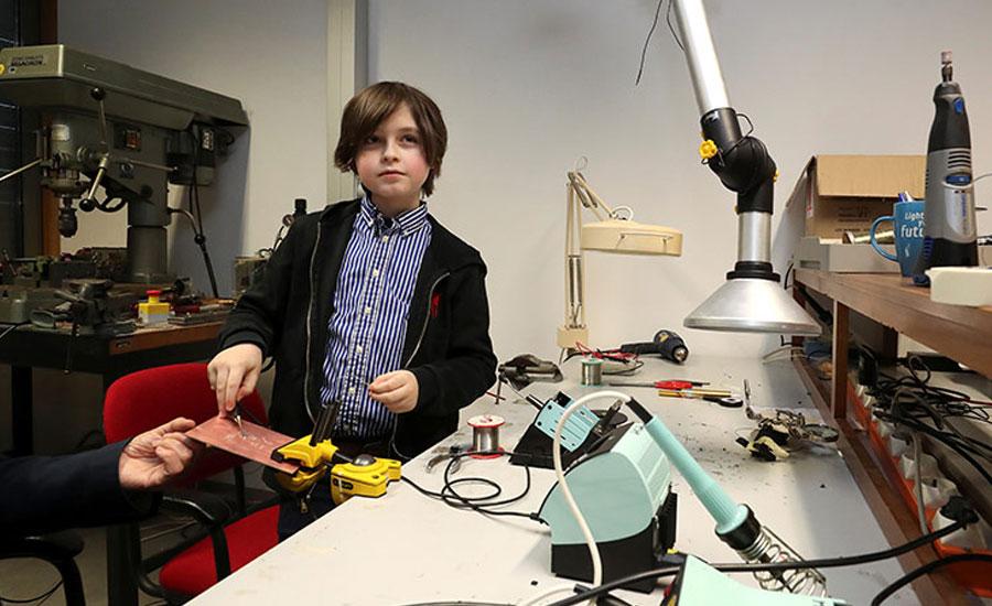 university Youngest university graduate belgian boy
