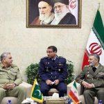 COAS, meets, Iranian, NSC Admiral, Shamkhani, Army Chief, Abdul Rahim, Mousavi