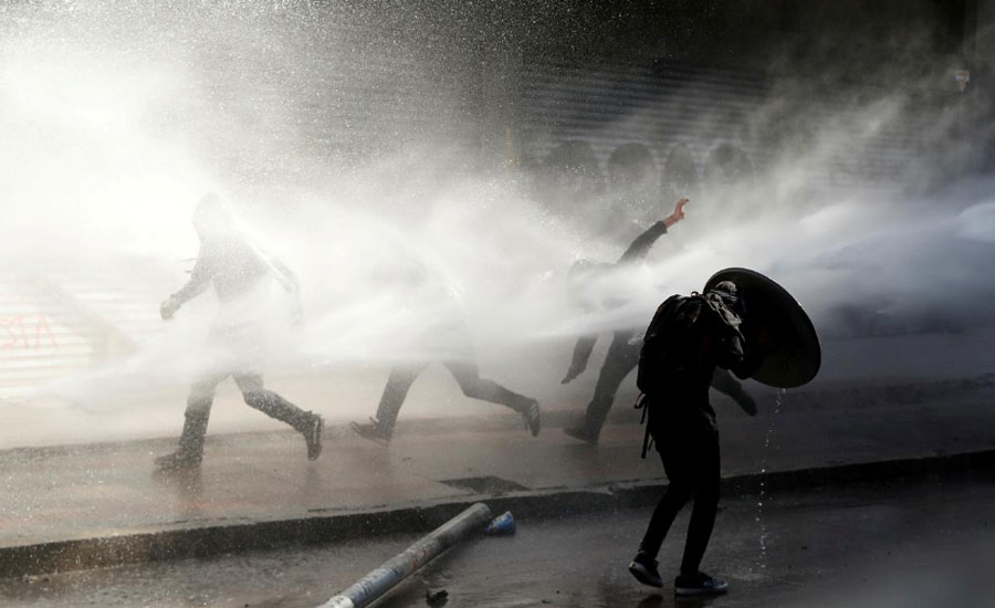Chile police dying protester sexual violence heart attack victim