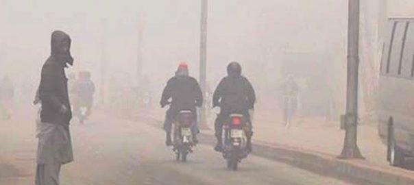 Dense fog fog Punjab Okara Pattoki Motroway police