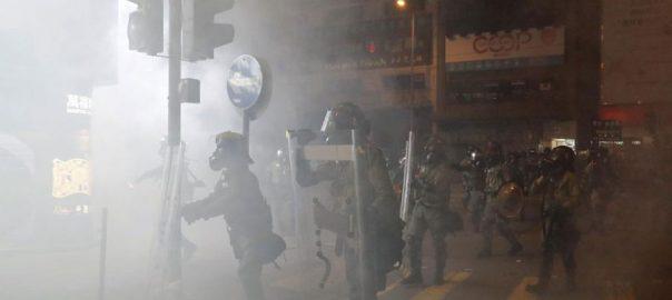 Hong Kong clean-up operation worst violence