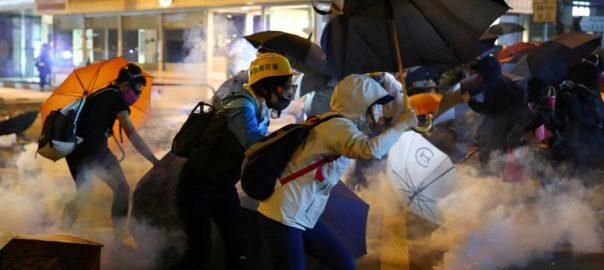 hong kong clashes worsen financial districts Hong Kong University formula university standoff
