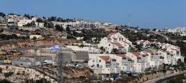 settlements Israel clouding peace US