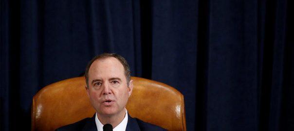 impeachment Trump impeachment report Donald Trump US House Intelligence next month