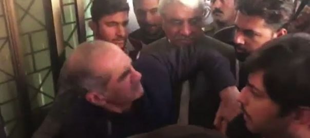 Khawaja Saad Khawaja Saad Rafique Khawaja Brothers Salman Rafique PMl-N accountbaility court scuffle security personnel