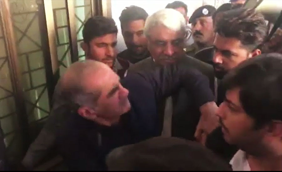 Khawaja Saad scuffles with security personnel during court appearance
