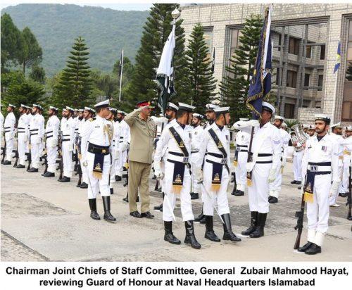 Admiral Zafar Abbasi, bids farewell, CJCSC, Zubair Hayat, Naval Headquarters