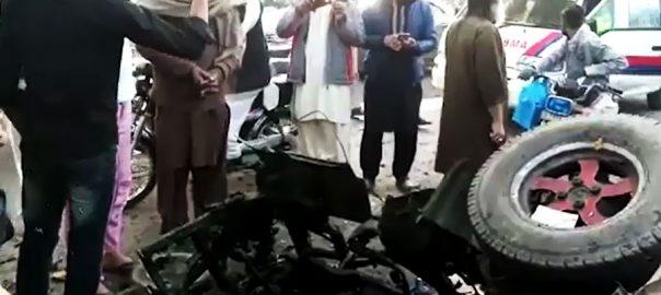 blast rickshaw rickshaw blast 92 news Chuburji Lahore Samnabad risckshaw blast seven injured