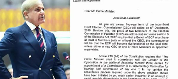 CEC appointment, Shehbaz, letter, PM, NA speaker, Senate chairman