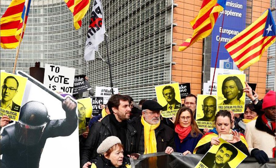 Belgium formally arrests Catalan separatists at Spain's request