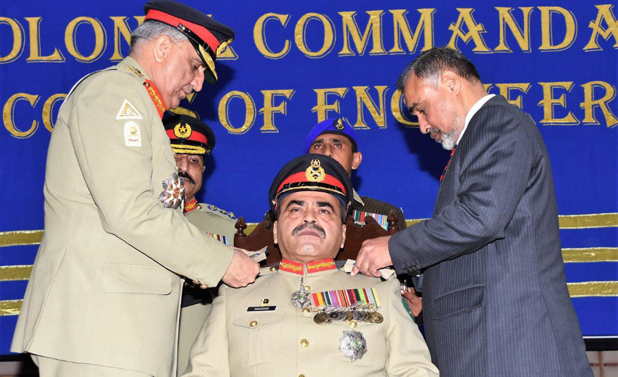 COAS ,installs, LT Gen Moazzam Ejaz ,colonel commandant Corps of Engineers