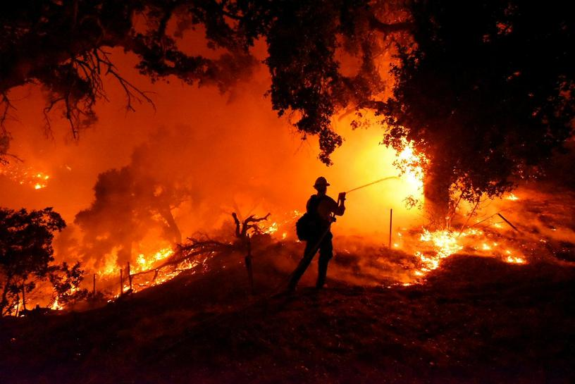 Wildfire outside Santa Barbara, California, threatens homes, causes evacuations