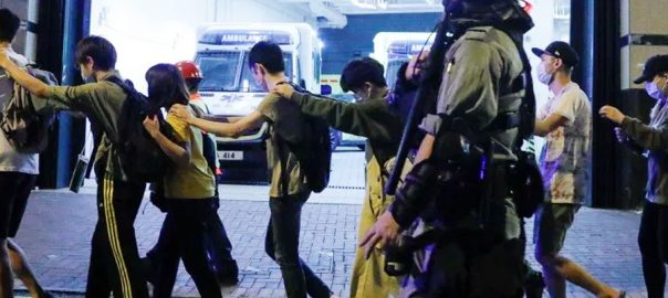 Hong kong Students campus arrest student's arrest