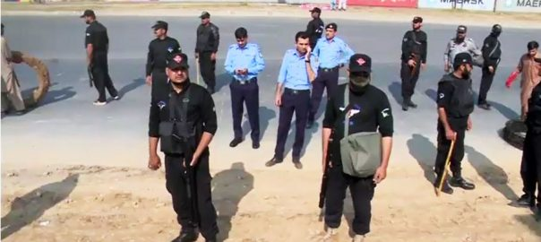 policeman constable azadi march suicide attempt leave request Islamabad