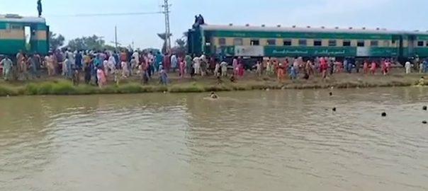 Sukkur Express Short circuit fire shikarpur Tezgam express