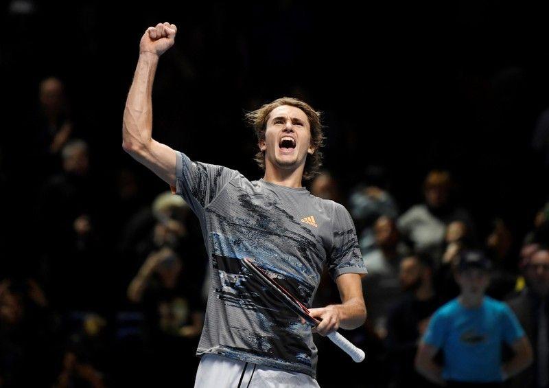 Defending champion ,Alexander Zverev,ATP Finals .a 6-4 7-6(4) defeat ,Russian debutant, Daniil Medvedev