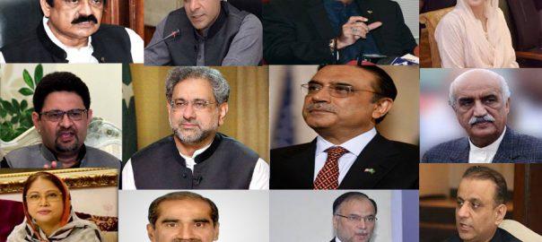 corrupt people Asif Ali Zardari Agha Siraj Durrani Maryam Nawaz Hamza Shahid Khaqan ABbasi Ahsan Iqbal KHawaja Saad Rafique aleem khan NAB revolving door