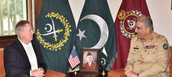 US Senator Afghan reconciliation process COAS Chief of Army staff Lindsey Garaham Chief of Army Staff Gen Qamar javed Bajwa