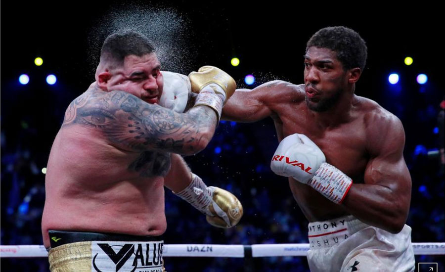 Joshua takes revenge on Ruiz in Saudi Arabia rematch