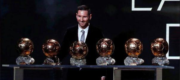 Messi, claims, record, sixth, Ballon d'Or, Rapinoe, women's award