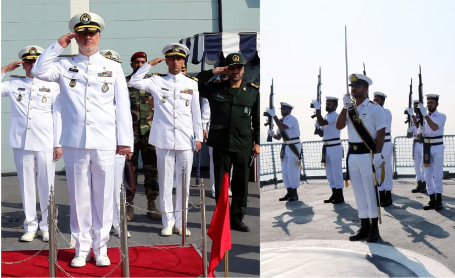PN units, Navy Commander Pakistan Navy Iranian Navy commander Rear Admiral Dr Hossein Khanzadi PN units Karachi Karachi commander