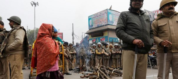 protests Indian citizenship law controversial law heavy police presence