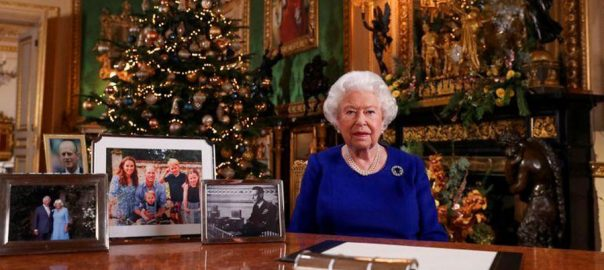 Britain, Queen Elizabeth, Christmas message, impressed, environmental destruction.