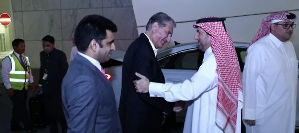 FM, Shah Mahmood Qureshi, reaches, Qatar, one-day, tour