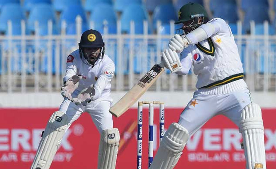 Masood Lunch 1st Test Pakistan Sri lanka SL ICC