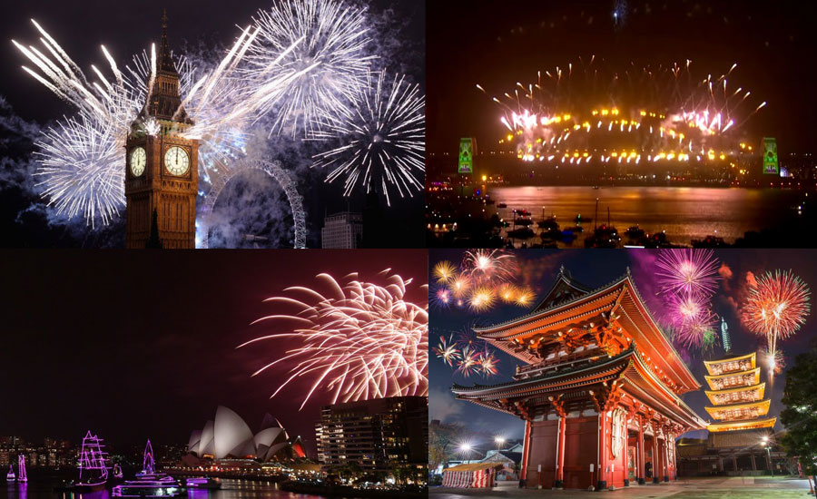 New Year's Eve 2020 celebrations, fireworks around the world