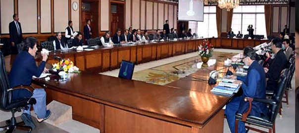 Federal cabinet federal cabinet meeting nine-point agenda PM Imran Khan