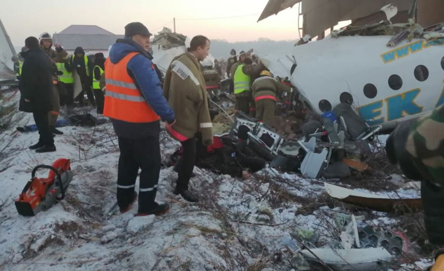 ALMATY, plane, passengers, crew members, airport, Kazakhstan