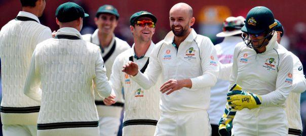 Lyon, spins, Australia, emphatic, win, Pakistan, Test