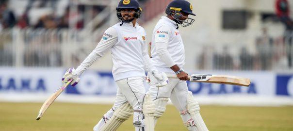 Rain, halts, play, 1st Test, Sri Lanka
