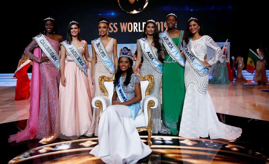 Jamaican wins, Miss World title, says, work, sustainable, change