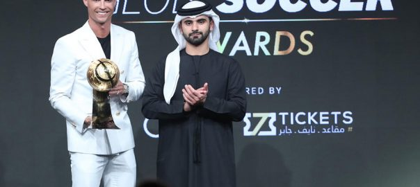 Ronaldo Cristiano Ronaldo Men's player of the year player of the year Dubai Globe Soccer