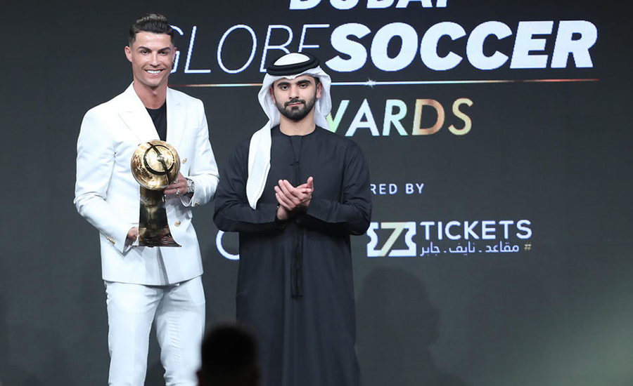 Ronaldo crowned player of the year at Dubai Globe Soccer Awards