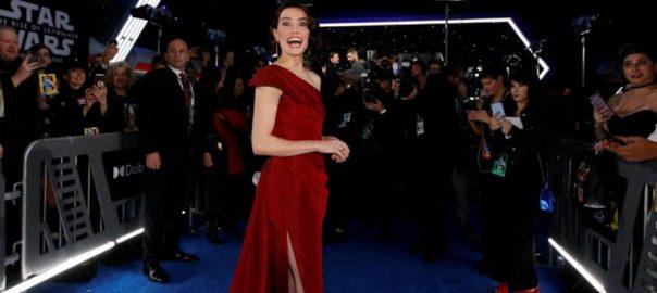 Rise of Skywalker film Hollywood carpet Droids stromtroopers
