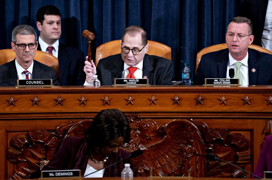 U.S, House panel, approves, charges, Trump, brink, impeachment