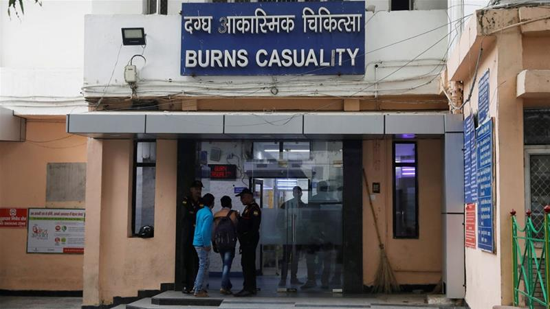 23-year-old, victim, fire, gang,New Delhi hospital,doctor
