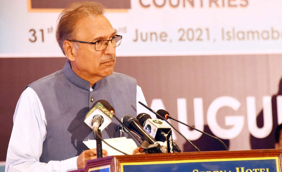 President says Kashmiris, Palestinians are victims of genocide