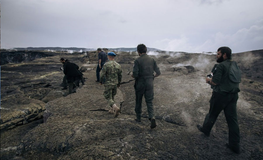 Volcano experts helicopter in to DR Congo crater