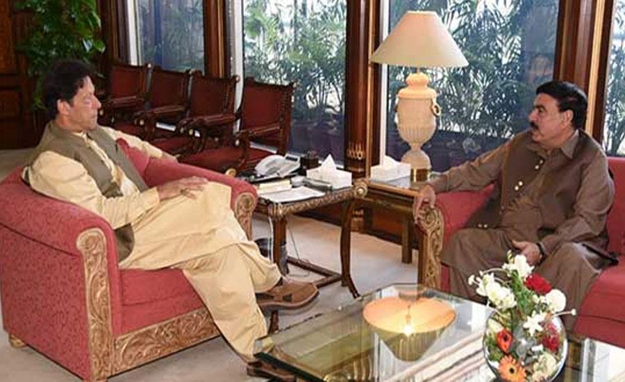 Sheikh Rasheed informs PM Imran about Karachi's law, order situation
