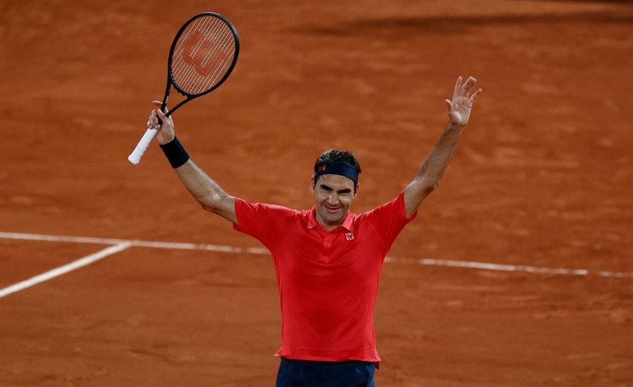 Federer slogs past Koepfer in late night battle