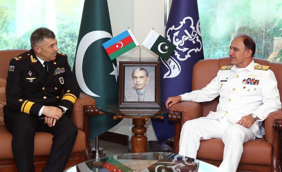Chief of Naval Staff Amjad Niazi, Azerbaijan Naval Forces Commander discuss regional security