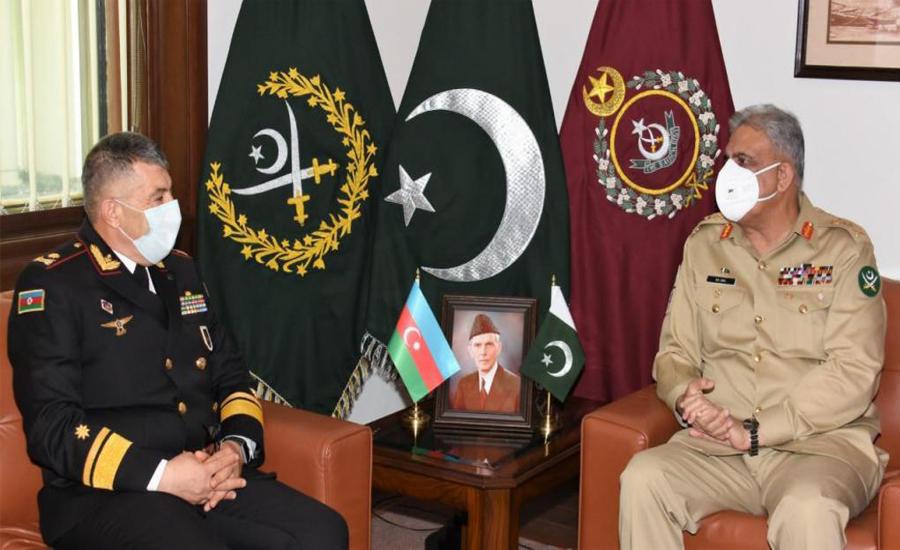 COAS Qamar Bajwa, Azerbaijan Naval Forces commander discuss security cooperation