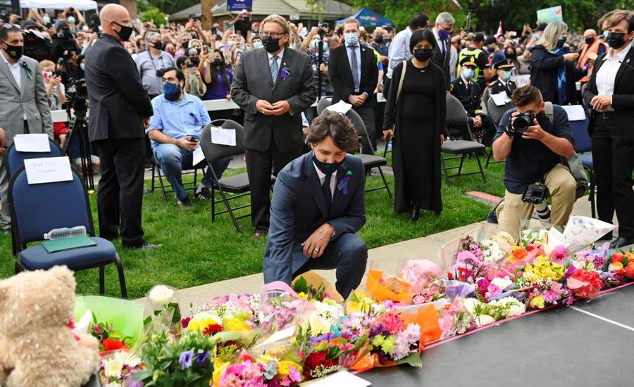 Canadian PM joins thousands of mourners to remember martyred Pakistani family