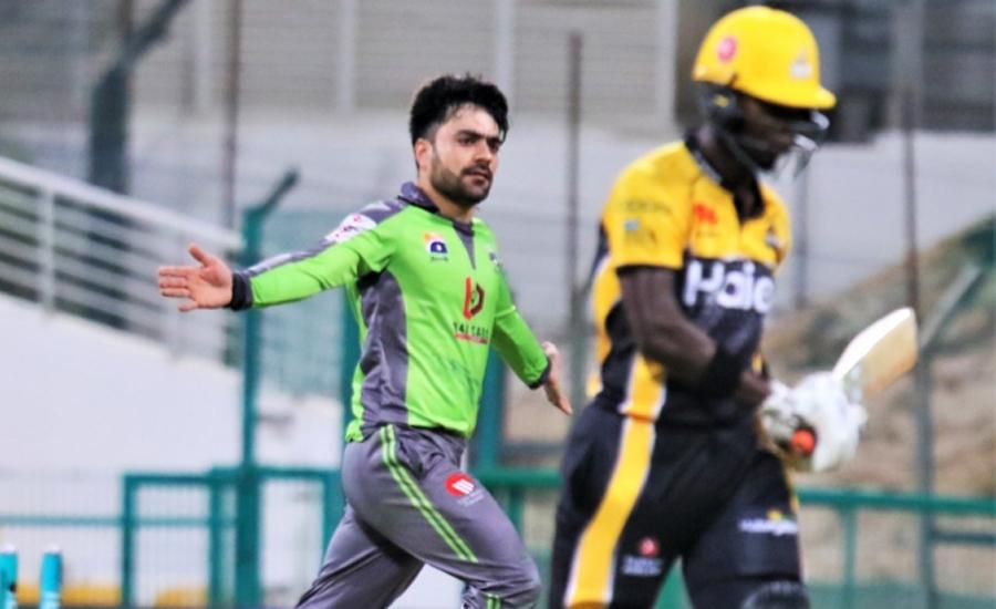 Rashid Khan's 5-20 guides Lahore Qalandars to 10-run win over Peshawar Zalmi