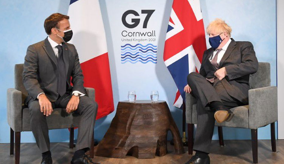 France's Macron sparred with UK's Johnson over Brexit geography