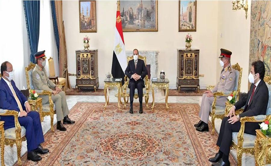 CJCSC General Nadeem Raza, Egyptian president discuss military cooperation